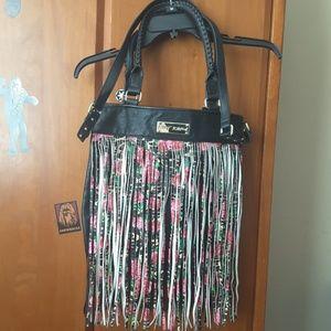 Betsey Johnson Fringe handbag purse